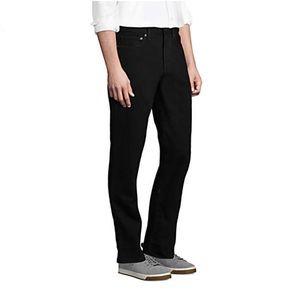 Lands End Black Jeans, Slim fit, EUC, 34